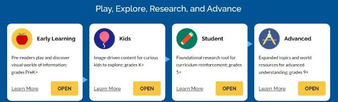 Choice at log in will determine the reading level of information presented